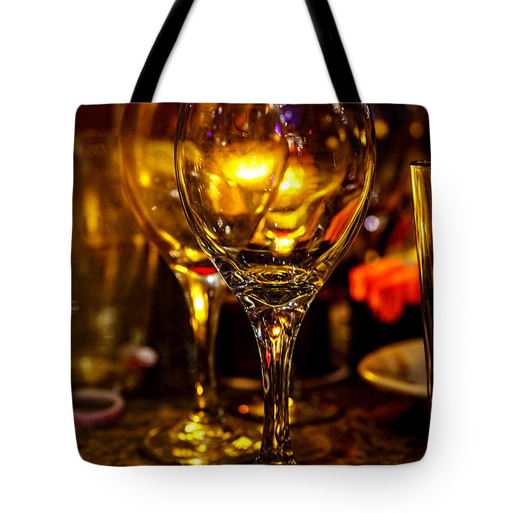 Christopher Holmes Photography Tote Bag featuring the photograph Glasses Aglow by Christopher Holmes