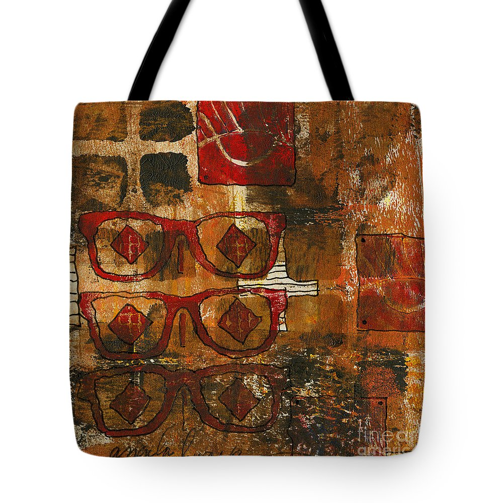 Printing Tote Bag featuring the mixed media Glasses by Angela L Walker