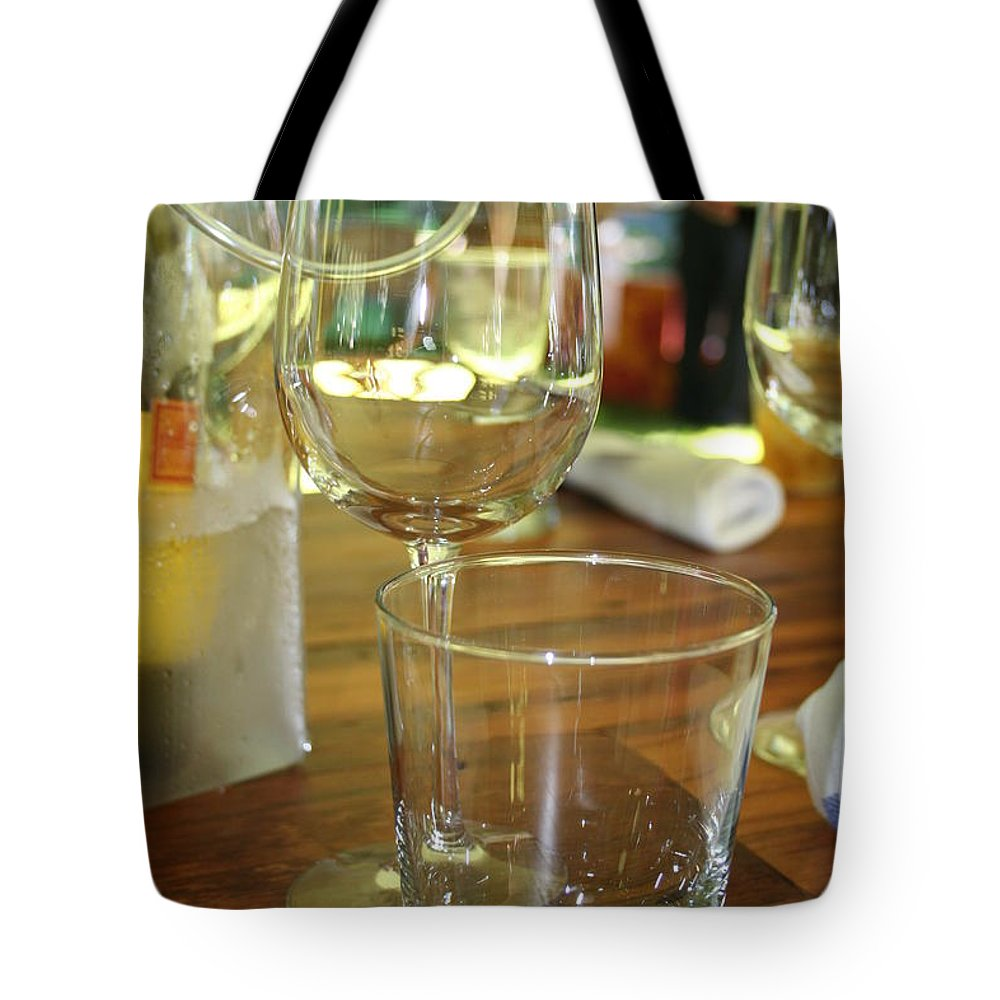 Glasses Tote Bag featuring the photograph Glasses by Roger Look