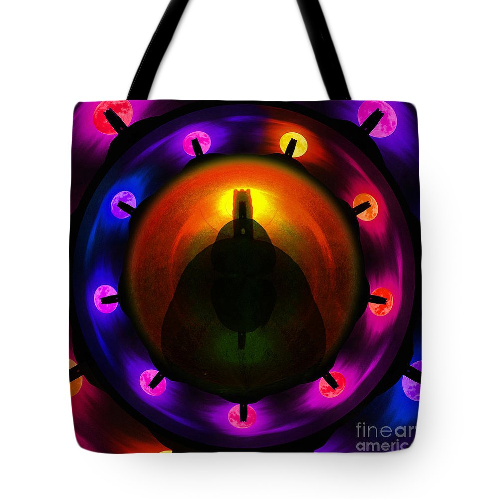 Glastonbury Tote Bag featuring the painting Glastonbury Tor by Neil Finnemore