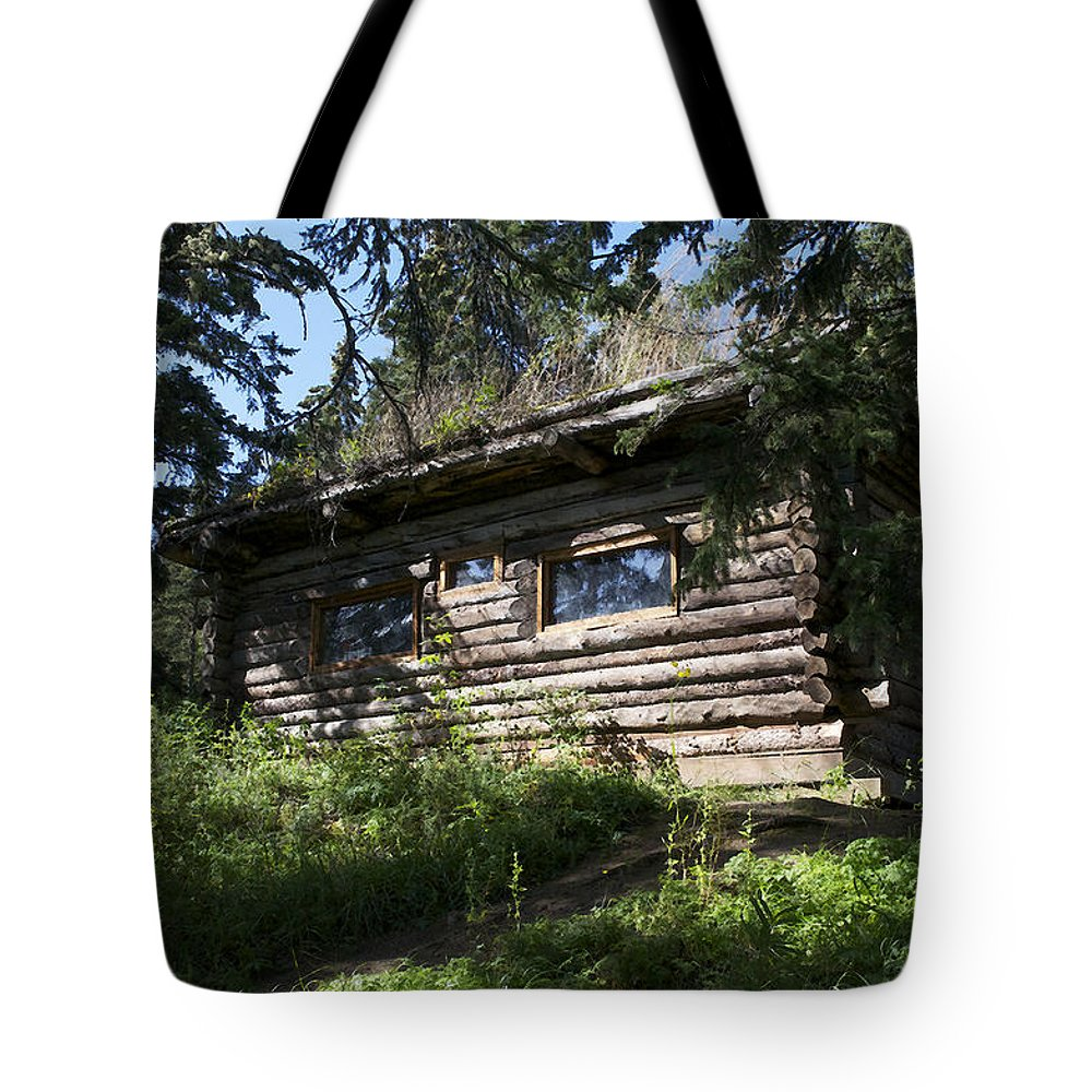 Cabin Tote Bag featuring the photograph Glatfelder Cabin by Cathy Mahnke