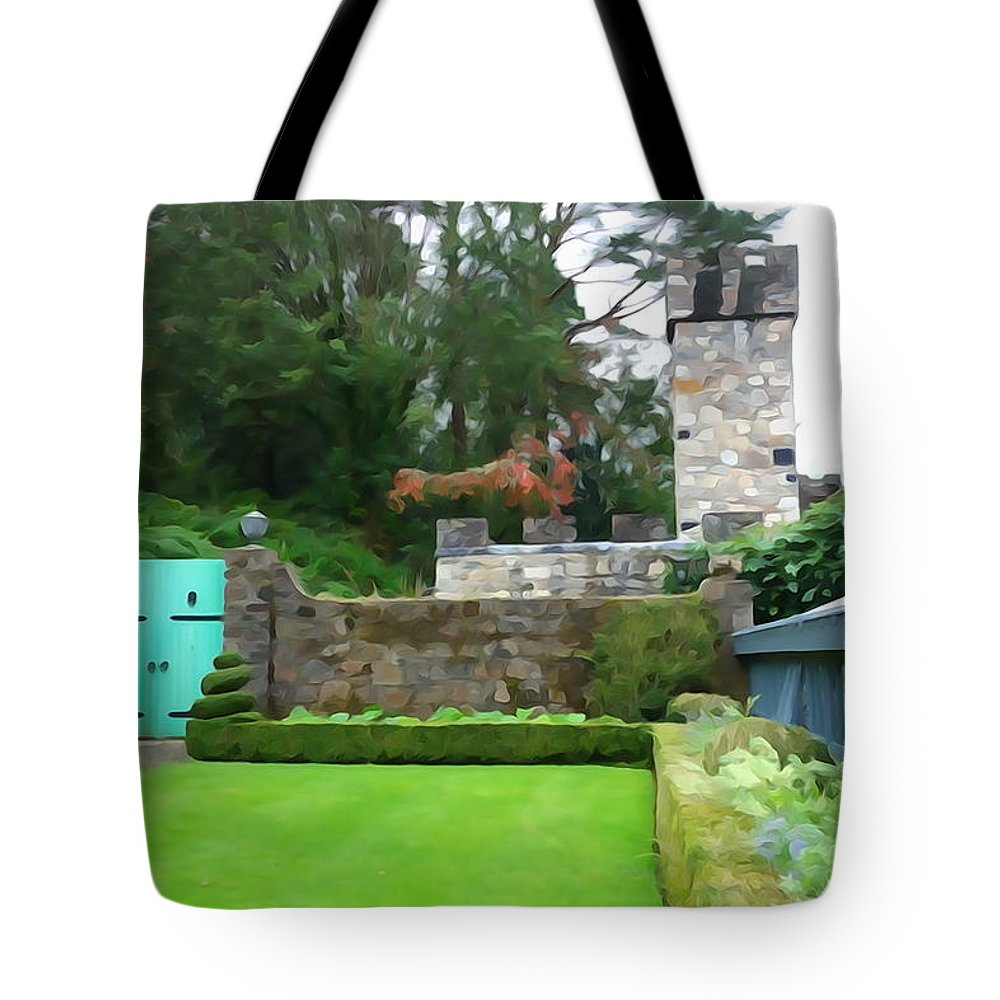 Gate Tote Bag featuring the photograph Glenveagh Garden Gate by Charlie and Norma Brock