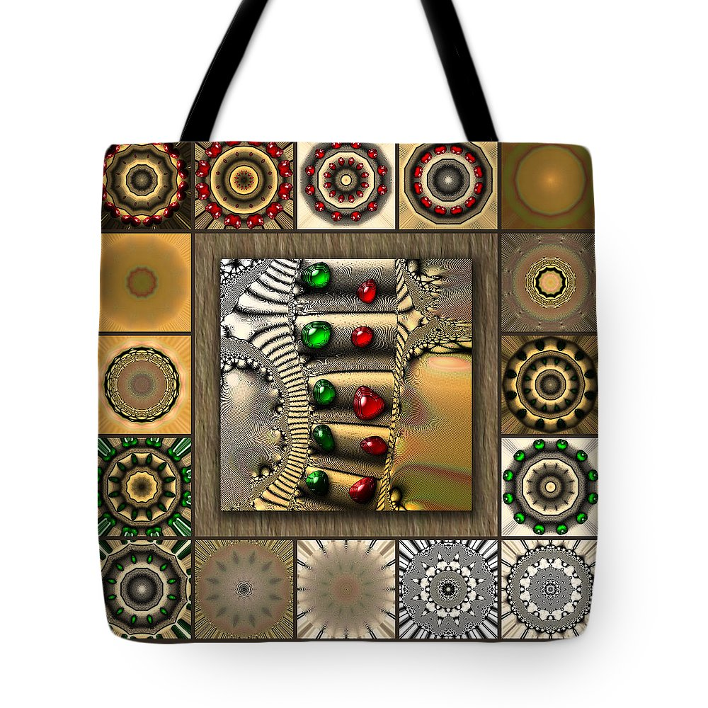 White Tote Bag featuring the digital art Glimmering Afternoon Redux by Ann Stretton