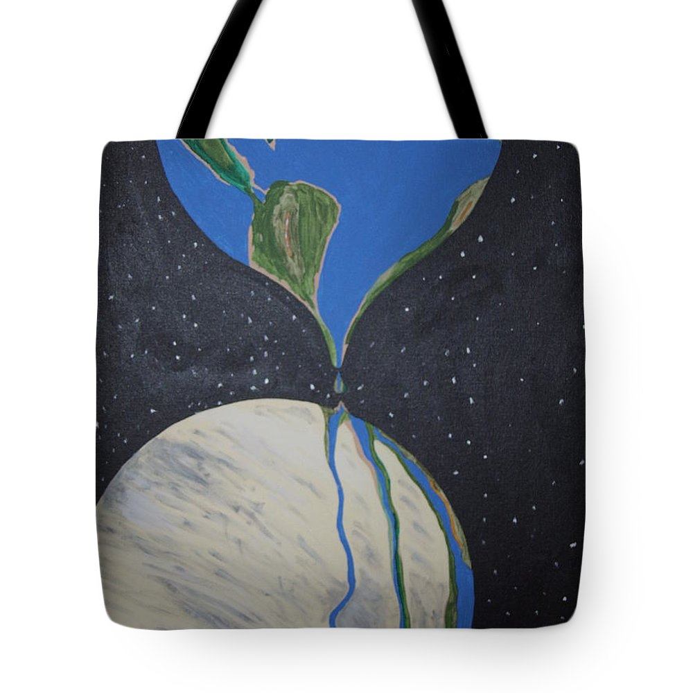 Enviromental Tote Bag featuring the painting Global Warming by Dean Stephens