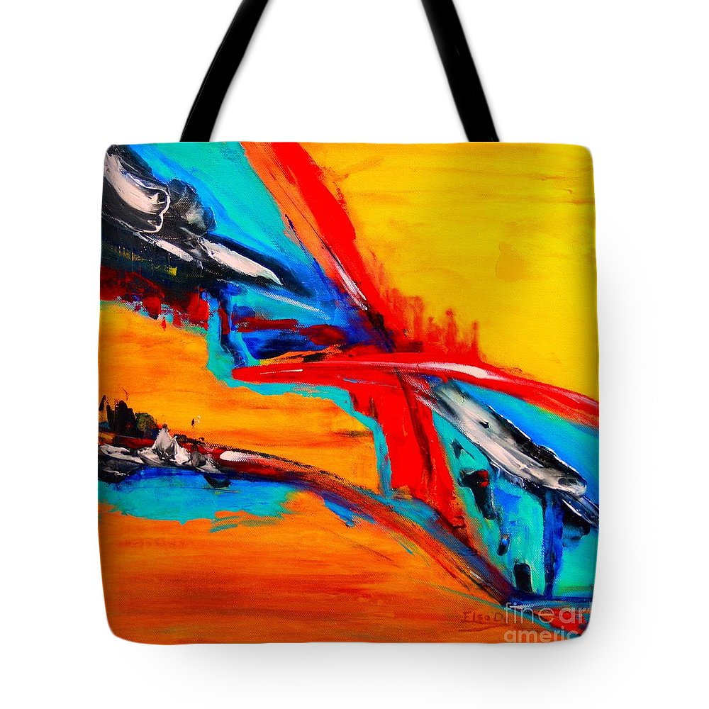Original Tote Bag featuring the painting Globetrotting by ElsaDe Paintings
