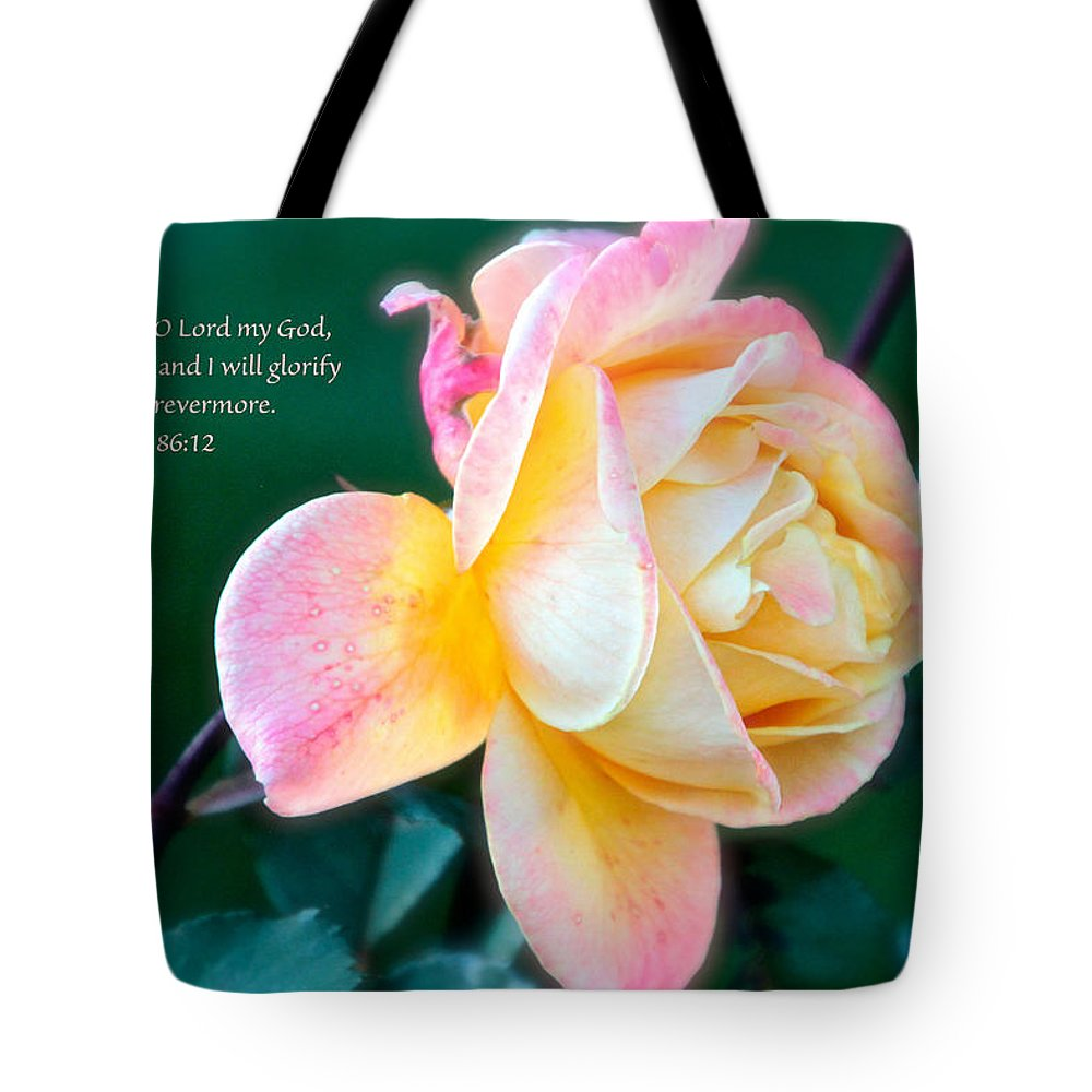 Rose Tote Bag featuring the photograph Glorify by Debbie Nobile