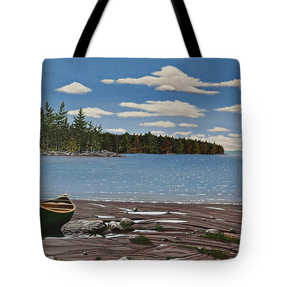 Landscapes Tote Bag featuring the painting Glorious Day by Kenneth M Kirsch
