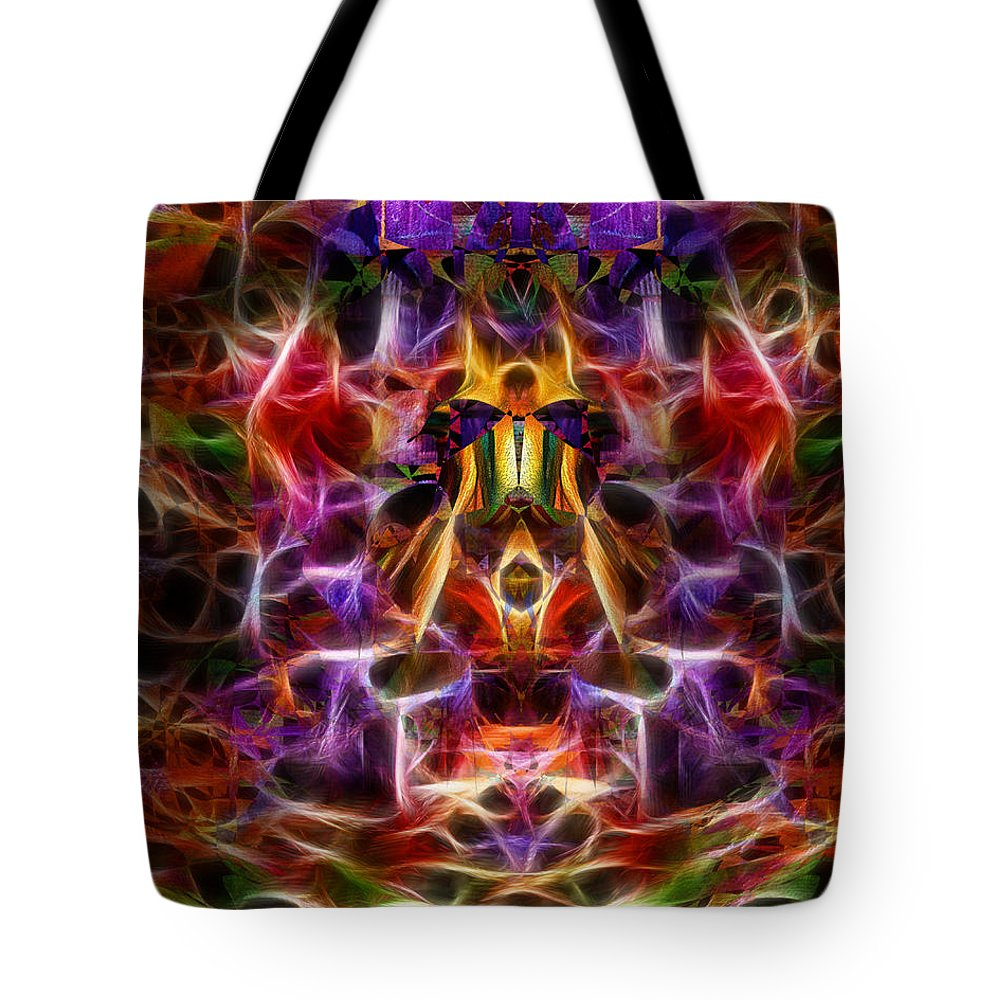 Colorful Tote Bag featuring the digital art Glorious by Mike Butler
