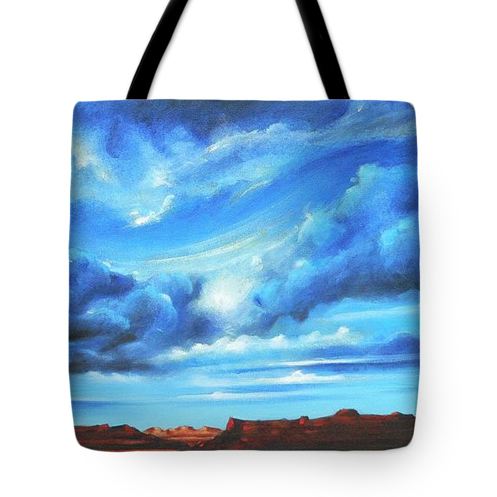 Acrylics Tote Bag featuring the painting Glorious Morning by Artist ForYou