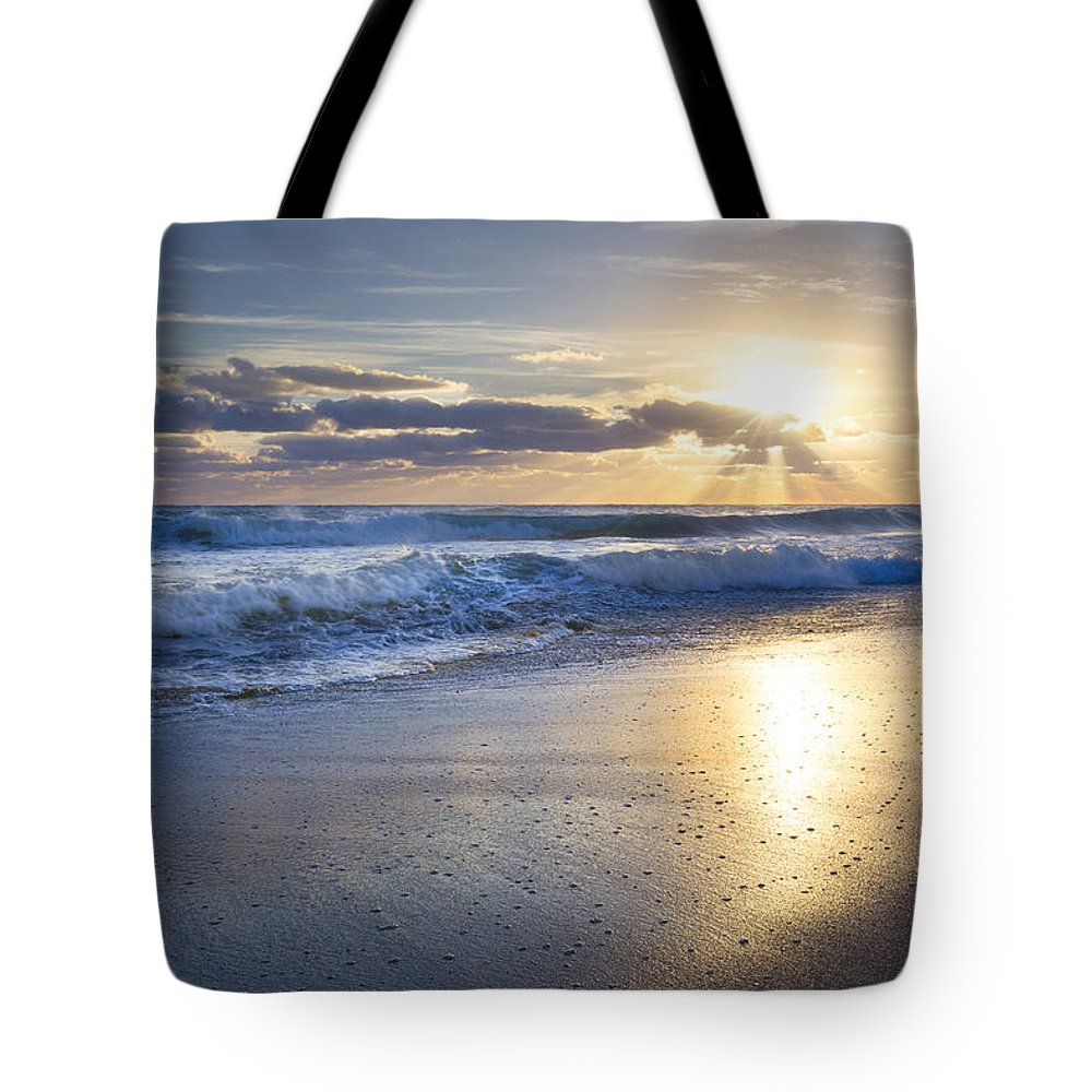 Clouds Tote Bag featuring the photograph Glow by Debra and Dave Vanderlaan