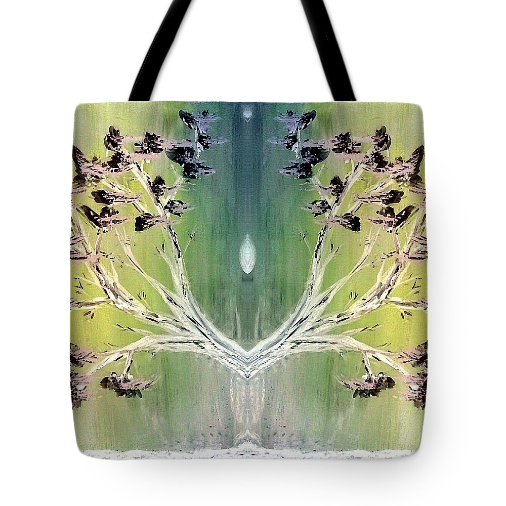 Inspiration Tote Bag featuring the painting Glow by Lady Ex