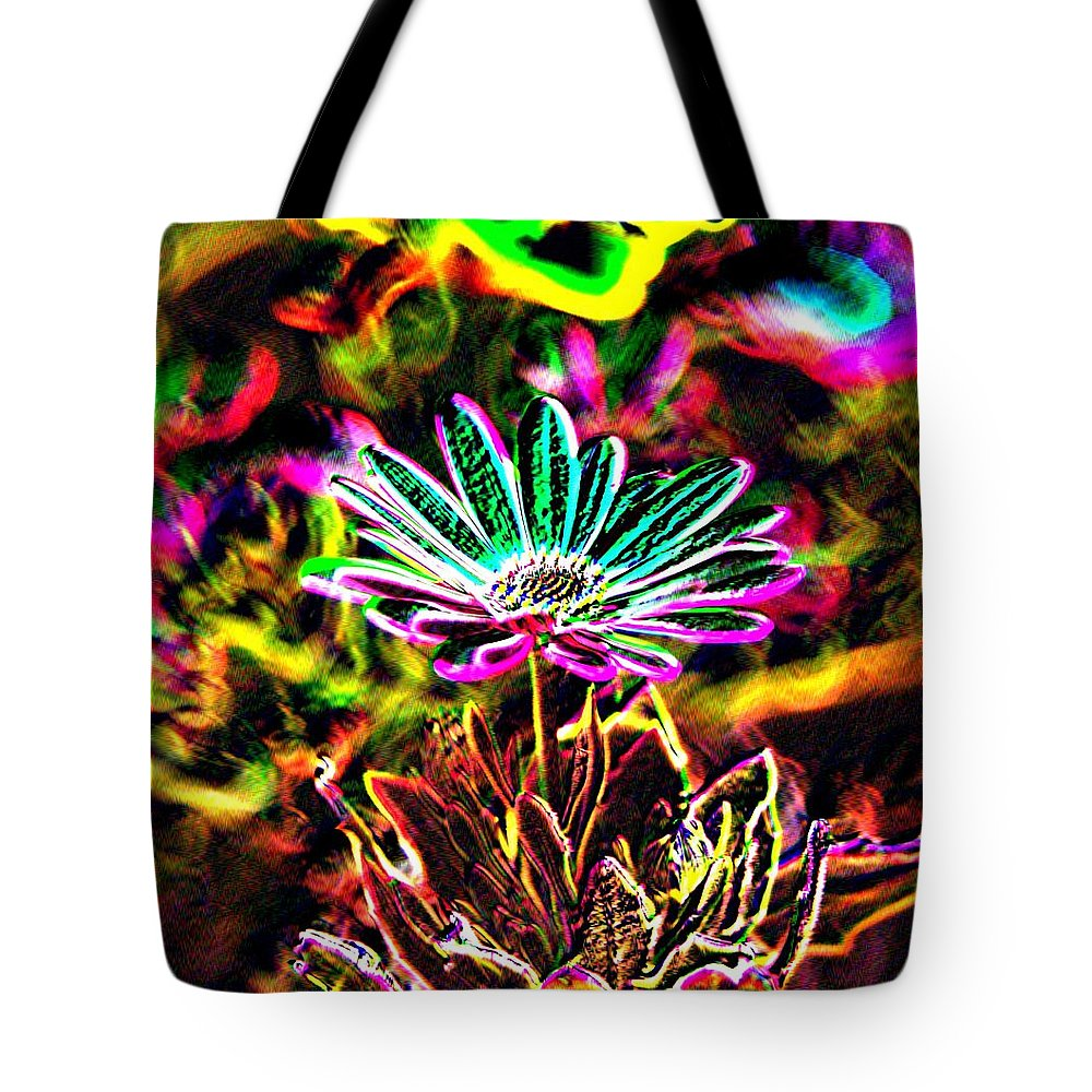 Tote Bag featuring the photograph Glowing Flower by Jeff Swan