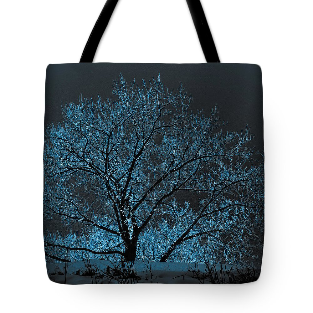 Tree Tote Bag featuring the photograph Glowing Tree by Chad Rowe