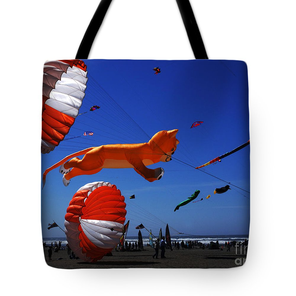 Kite Tote Bag featuring the photograph Go Fly A Kite 1 by Bob Christopher