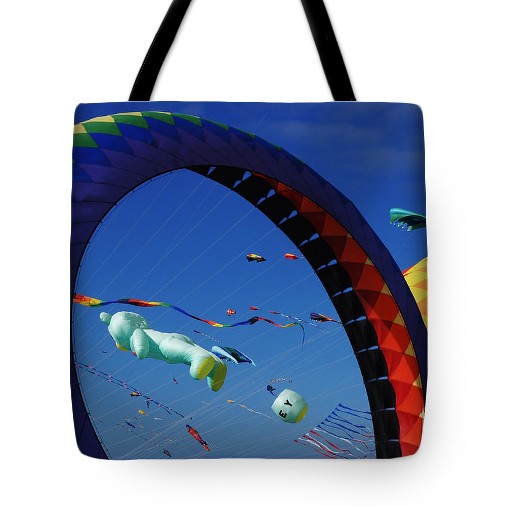 Kite Tote Bag featuring the photograph Go Fly A Kite 2 by Bob Christopher