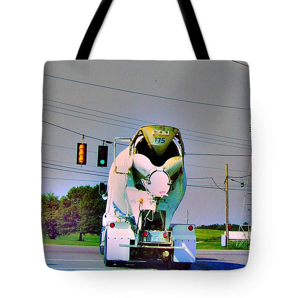 Concrete Truck Tote Bag featuring the photograph Go Truck by Lizi Beard-Ward