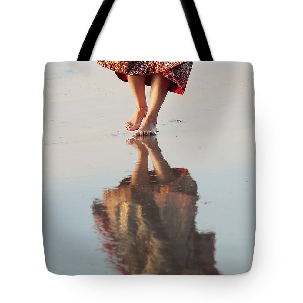 Reflections Tote Bag featuring the photograph Goa Reflections by Jenny Rainbow