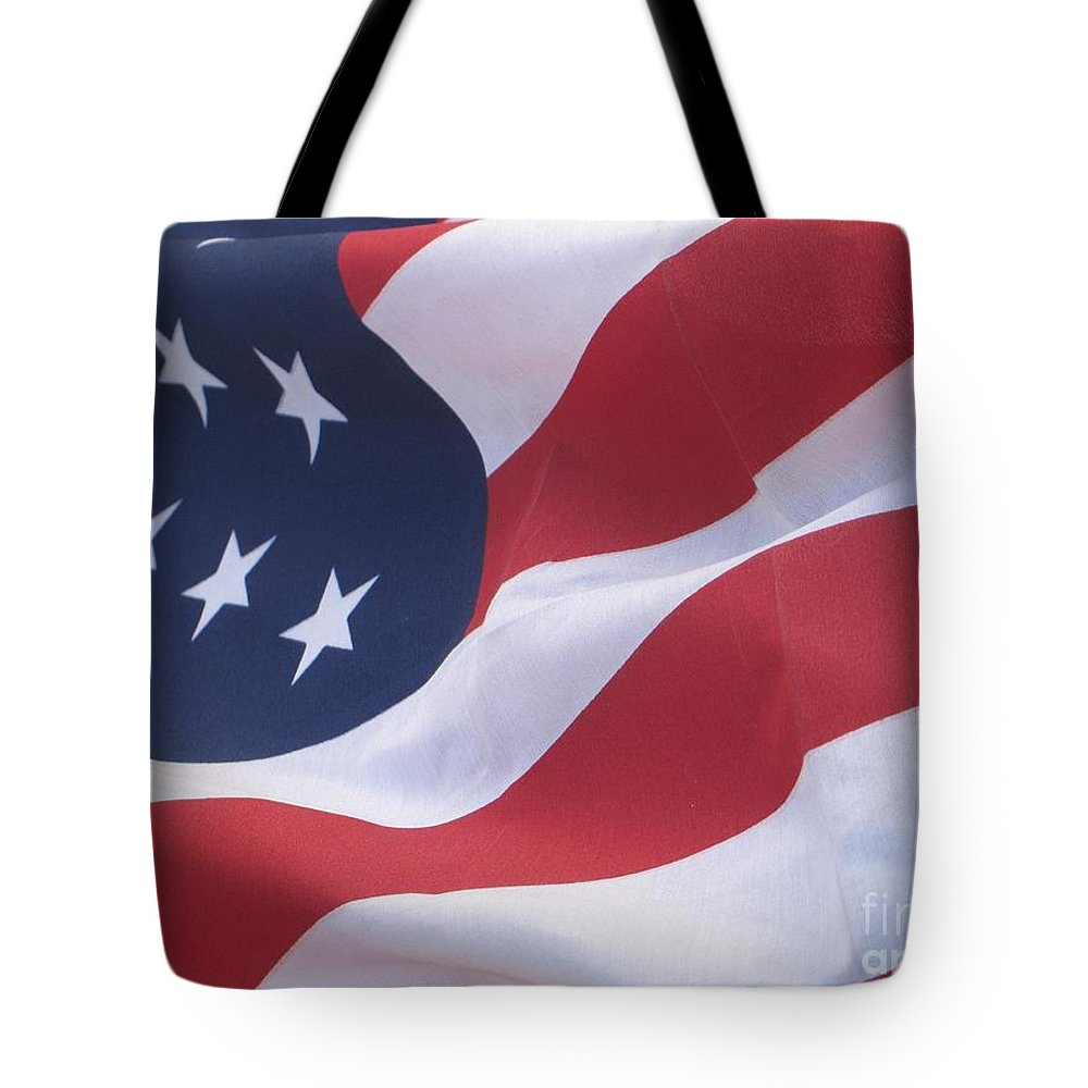 Photography Tote Bag featuring the photograph God Bless America by Chrisann Ellis