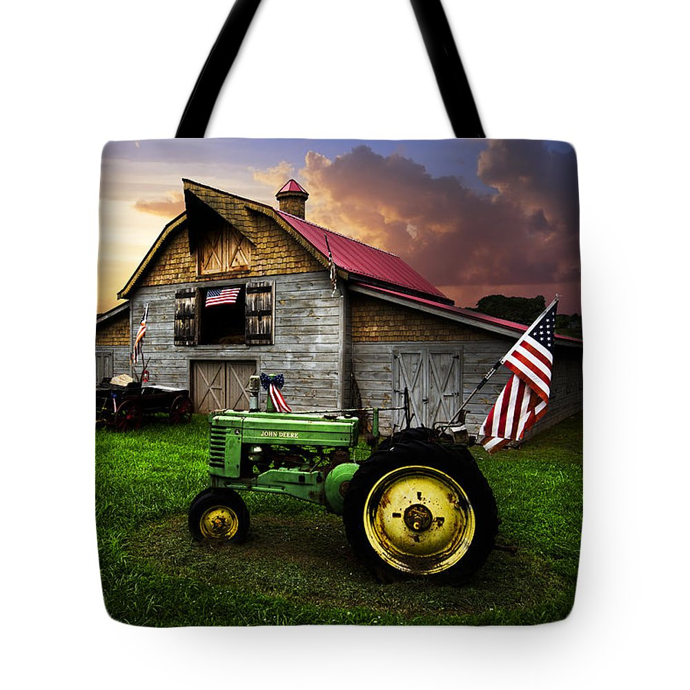 American Tote Bag featuring the photograph God Bless America by Debra and Dave Vanderlaan