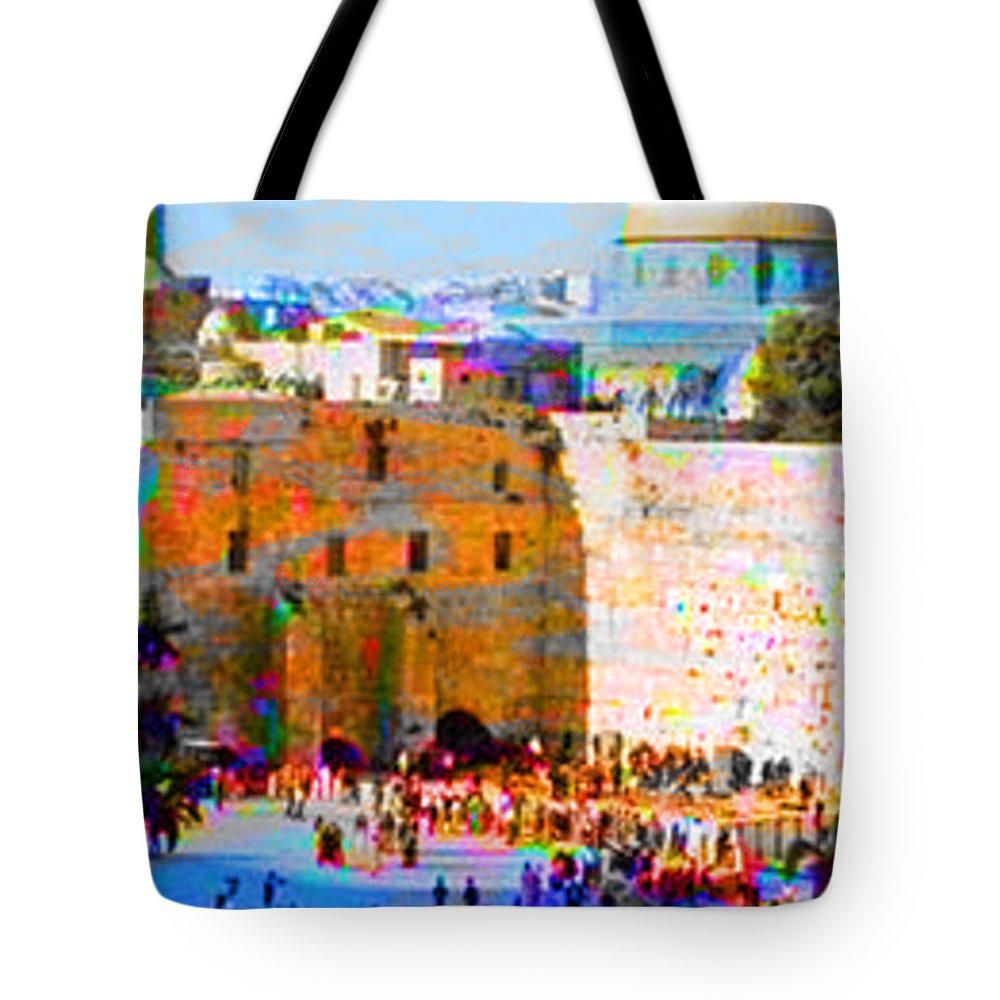 Spirtual Digital Art Tote Bag featuring the digital art God Is Everywhere by Yael VanGruber