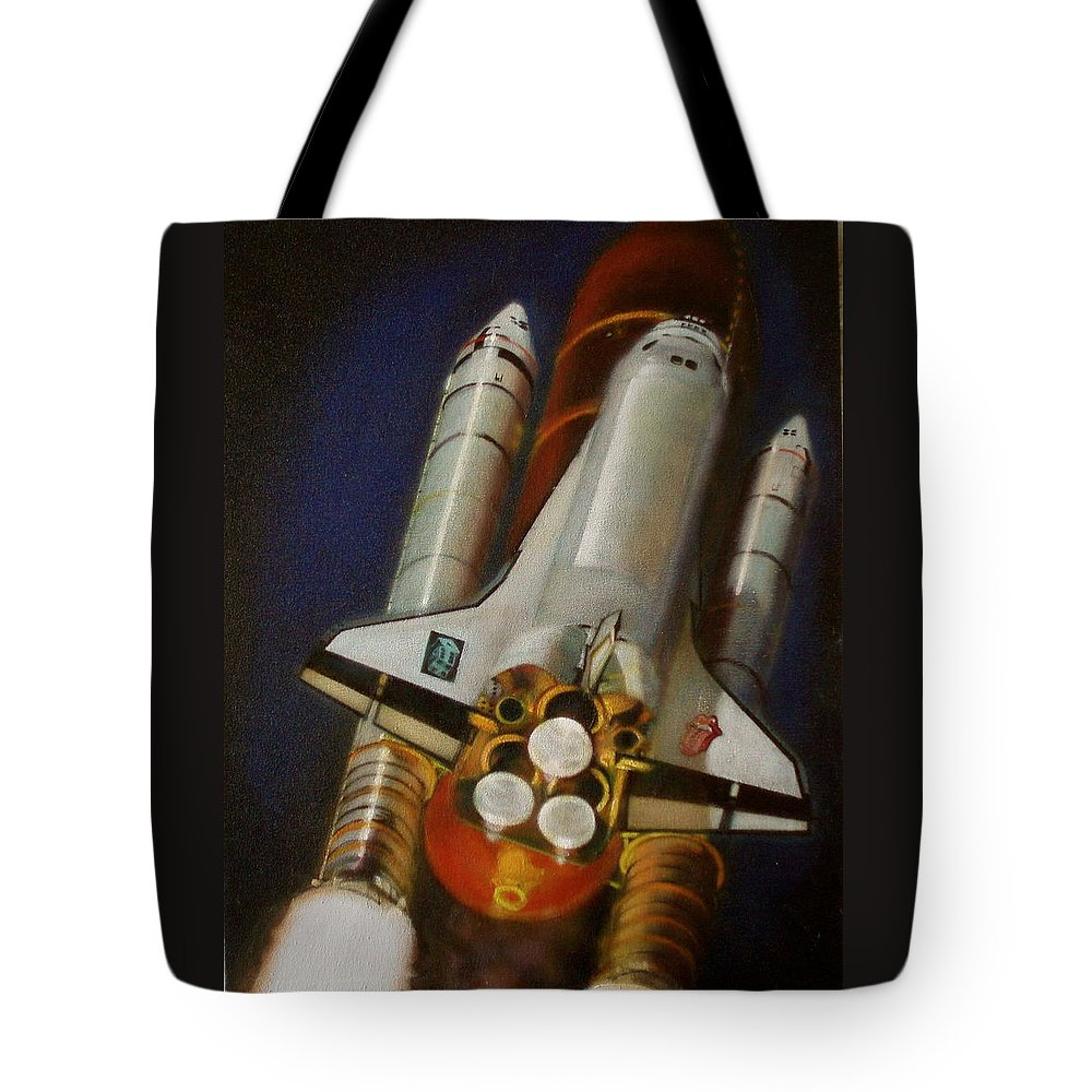 Oil Painting On Canvas Tote Bag featuring the painting God Plays Dice by Sean Connolly