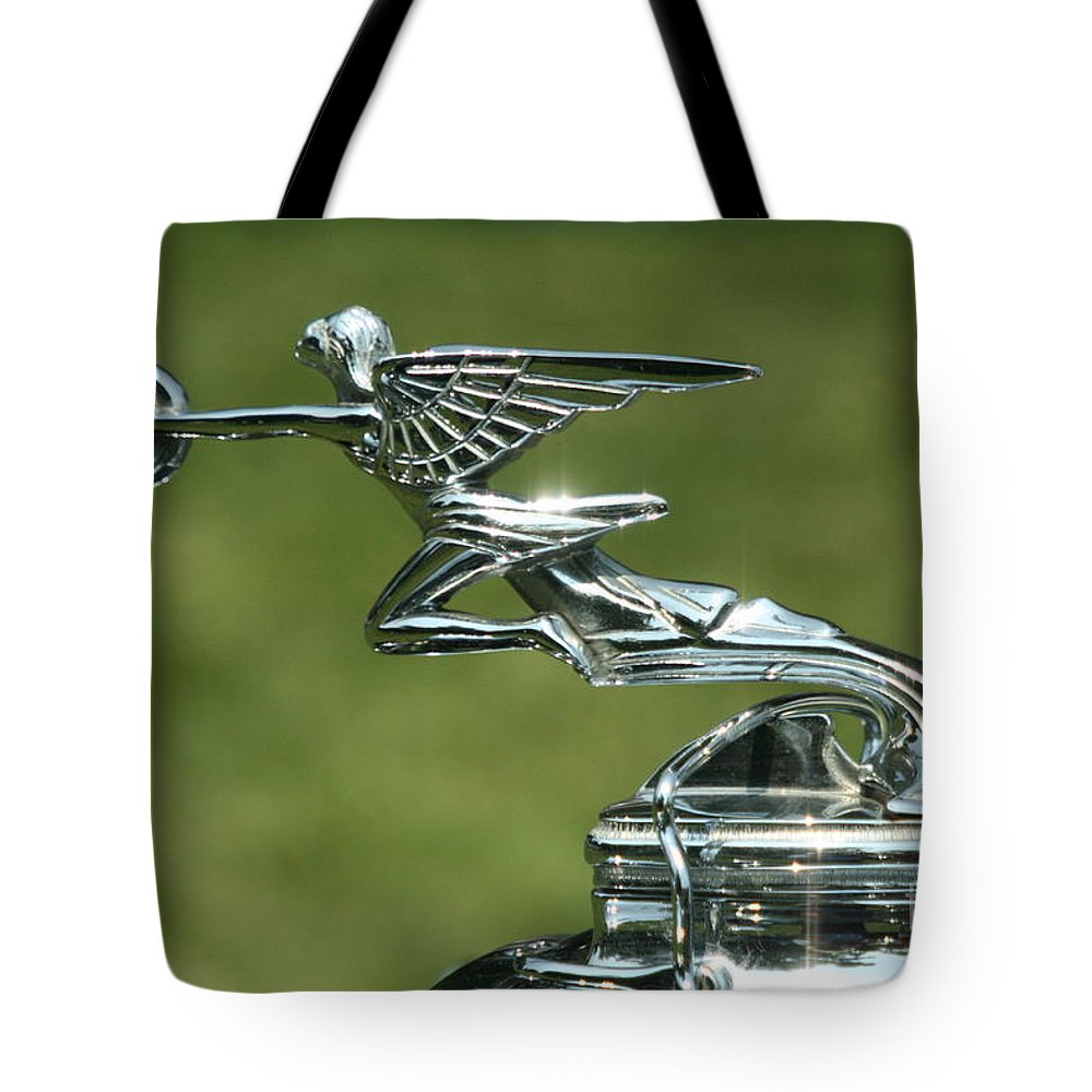 Hood Ornament Tote Bag featuring the photograph Goddess Of Speed by Crystal Nederman