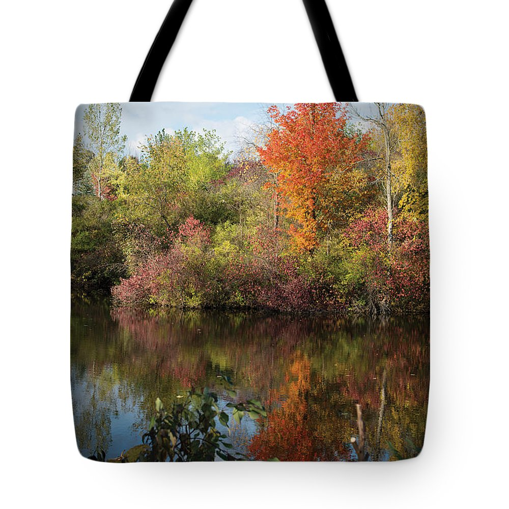 Fall Tote Bag featuring the photograph God's Canvas by Jayne Gohr