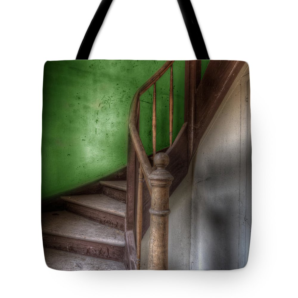Urbex Tote Bag featuring the digital art Going Green by Nathan Wright