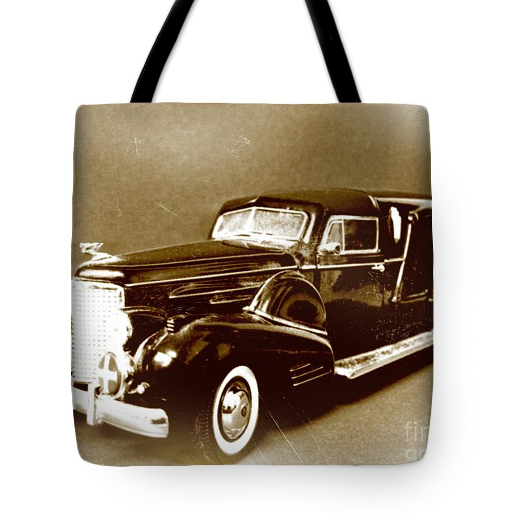 Hearse Tote Bag featuring the photograph Going Out In Style by John Malone