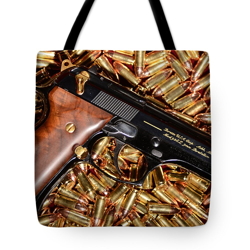 Gold 9mm Beretta With Br Ammo Tote Bag for Sale by Jt PhotoDesign  Mm Bullet Forum House Plans on