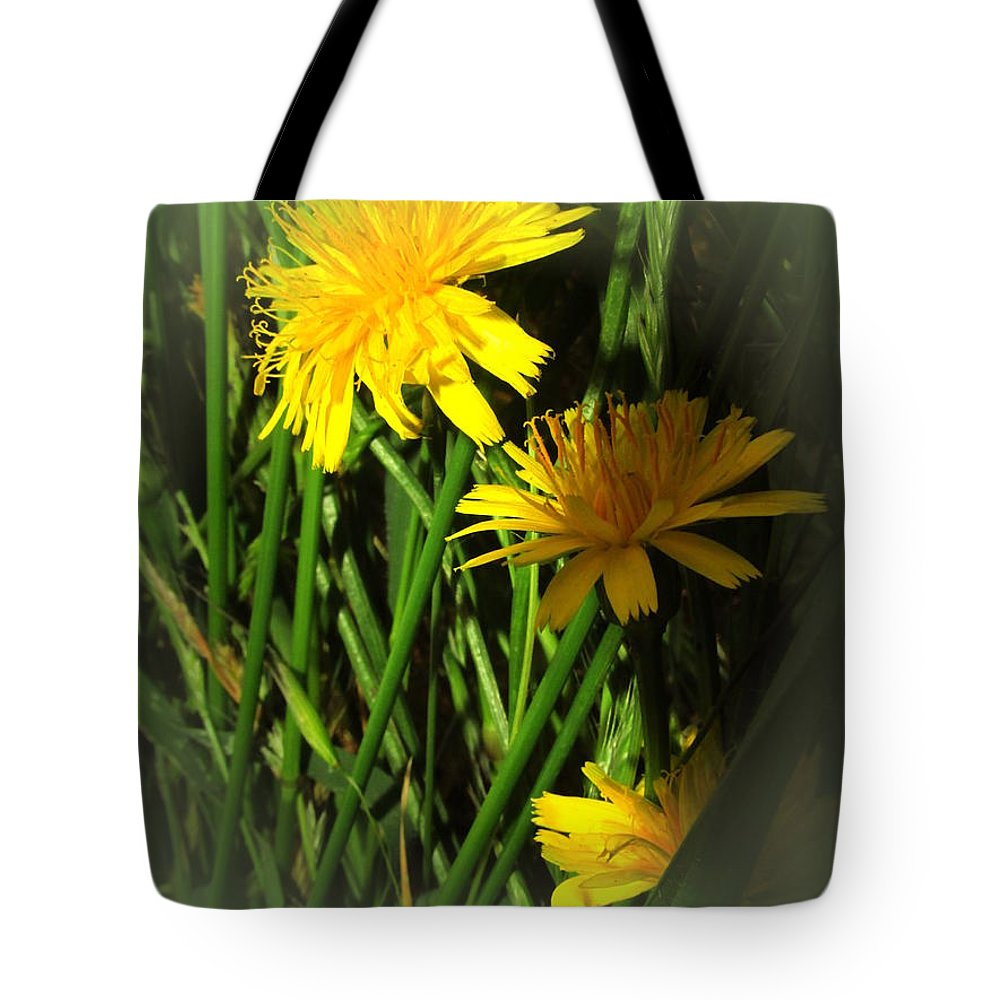 Floral Tote Bag featuring the photograph Gold And Green by Joyce Dickens