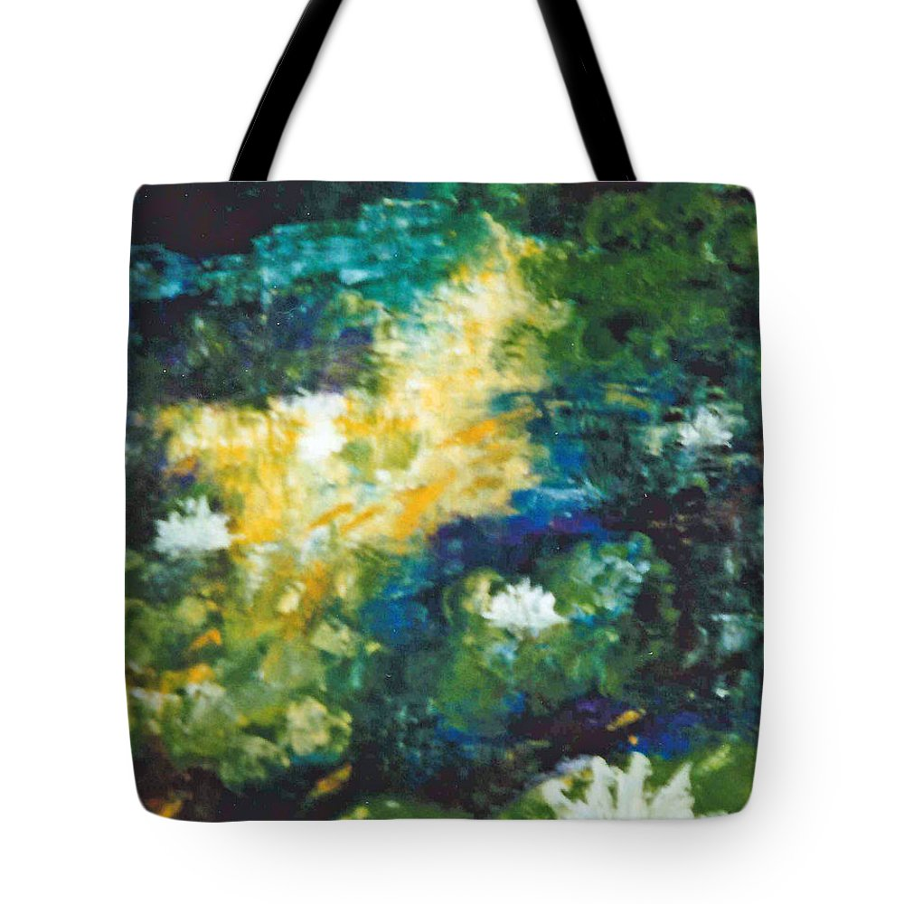 Gold Fish Tote Bag featuring the painting Gold Fish Pond by Lord Frederick Lyle Morris - Disabled Veteran