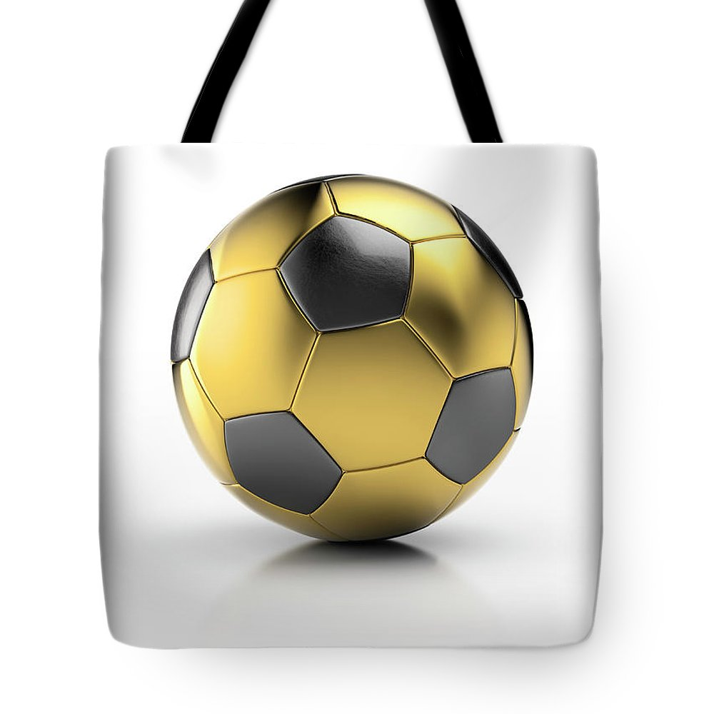 White Background Tote Bag featuring the photograph Gold Football by Atomic Imagery