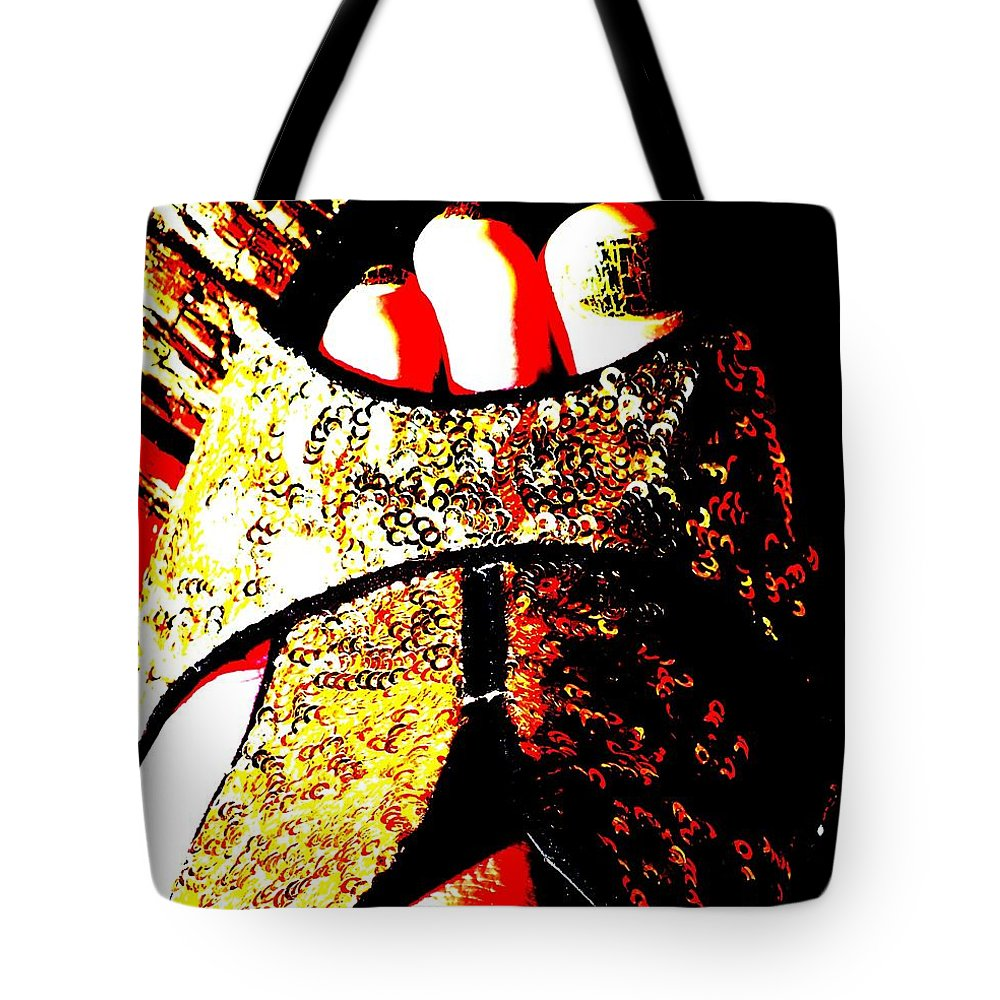Foot Tote Bag featuring the photograph Gold Shoe by Guy Pettingell