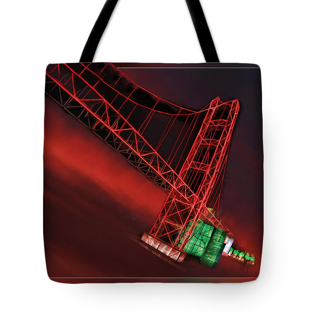 Art Photographygate Bridge San Francisco Tote Bag featuring the photograph Golden Arches by Blake Richards