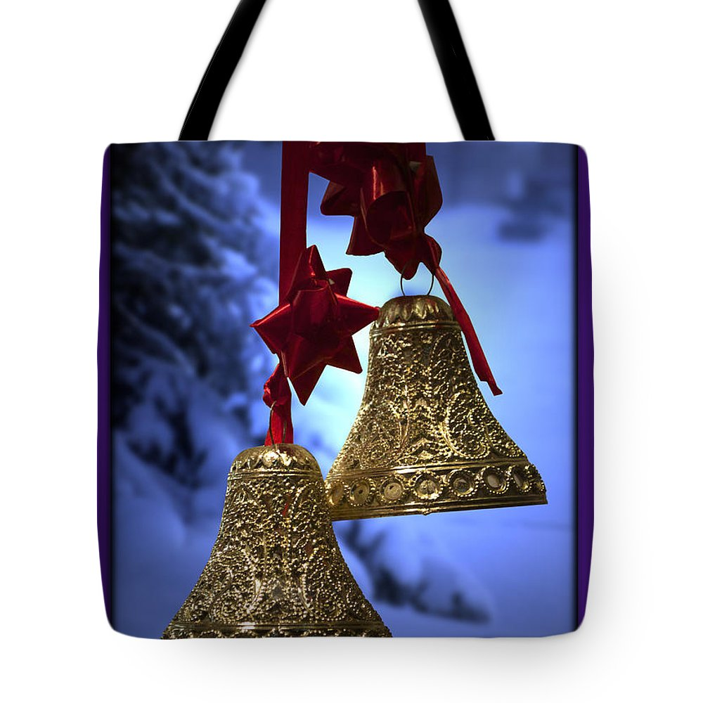 Purple Tote Bag featuring the photograph Golden Bells Purple Greeting Card by Thomas Woolworth