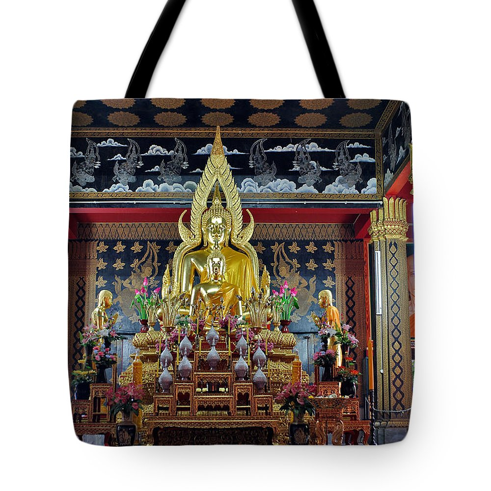 3scape Tote Bag featuring the photograph Golden Buddha by Adam Romanowicz