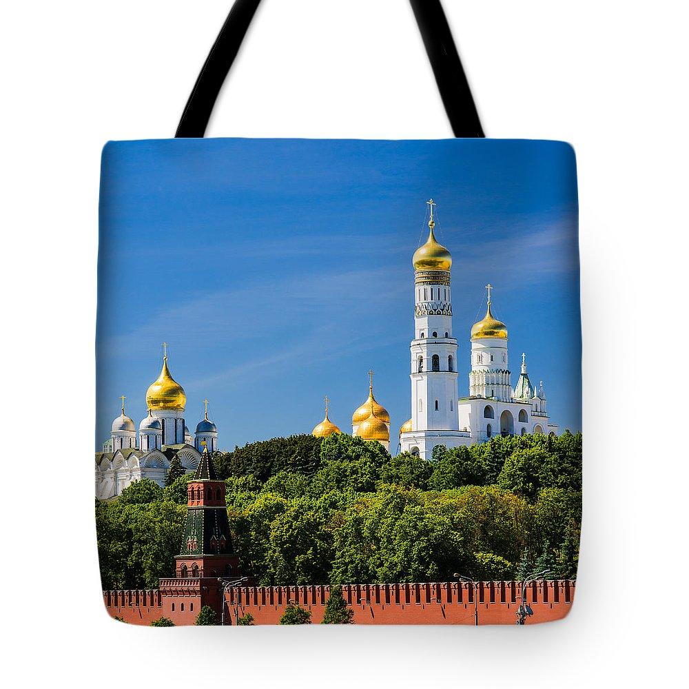 Featured Tote Bag featuring the photograph Golden Domes Of Moscow Kremlin - Featured 3 by Alexander Senin