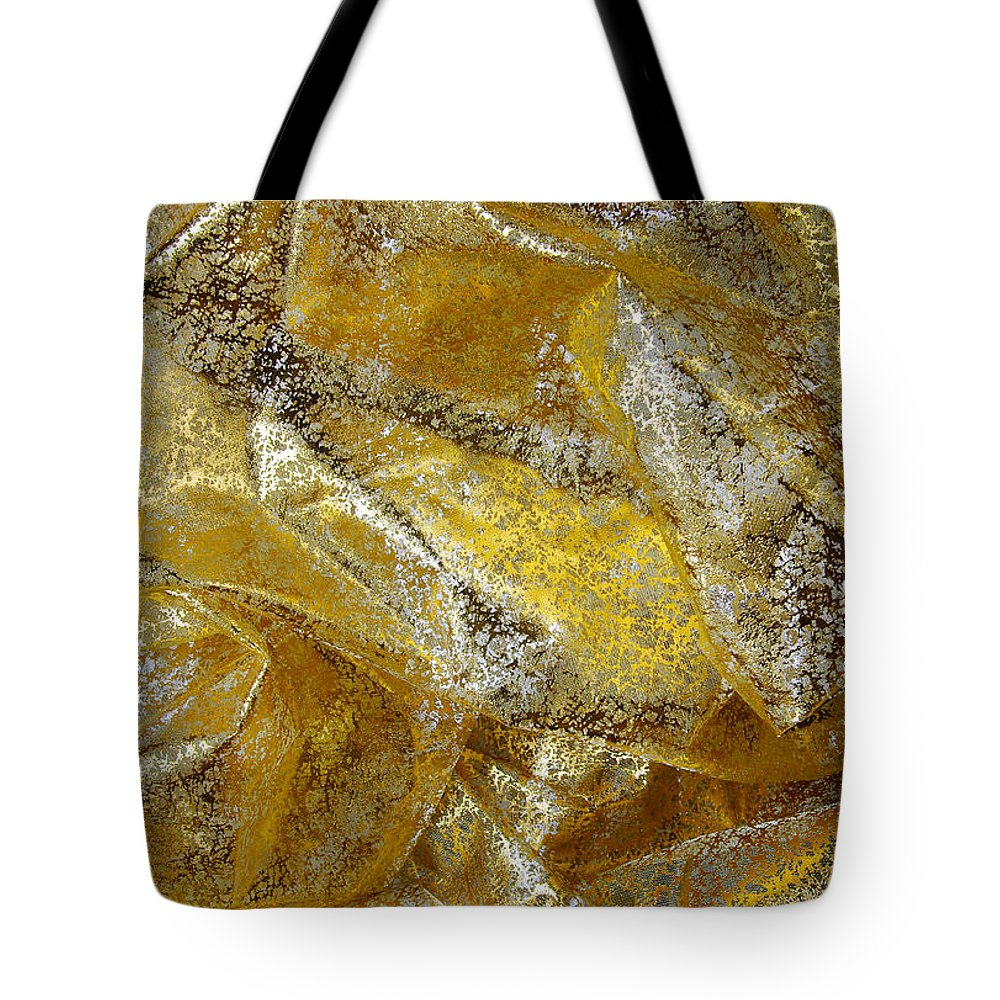 Abstract Tote Bag featuring the photograph Golden Fabric by Carlos Caetano