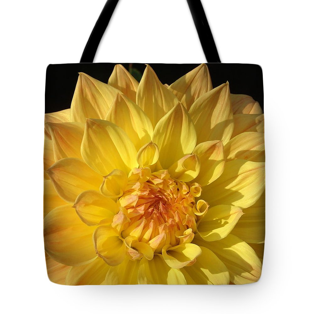 Yellow Flower Tote Bag featuring the photograph Gold by Christa DeVega