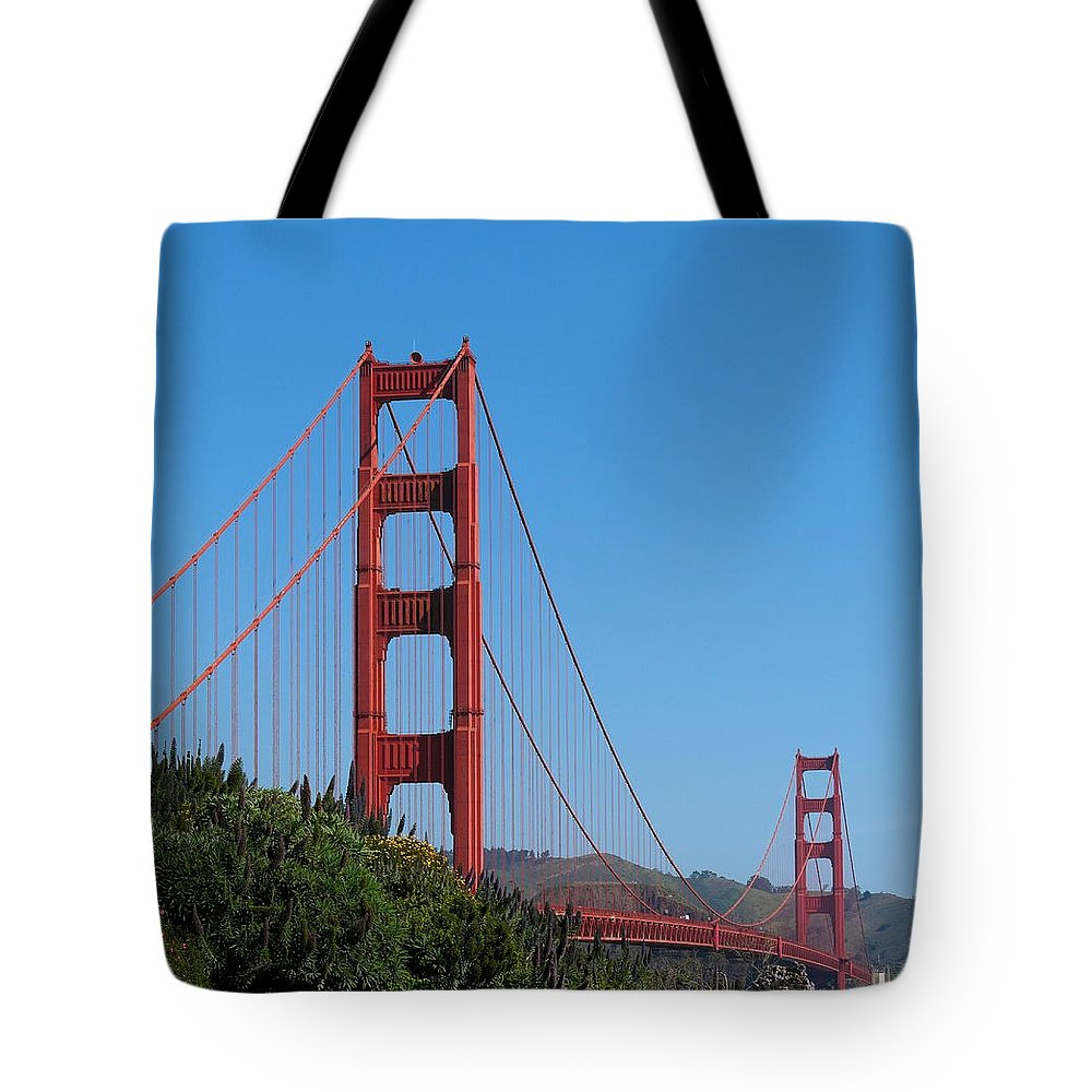 San Francisco Tote Bag featuring the photograph Golden Gate Bridge In Spring by Michele Myers