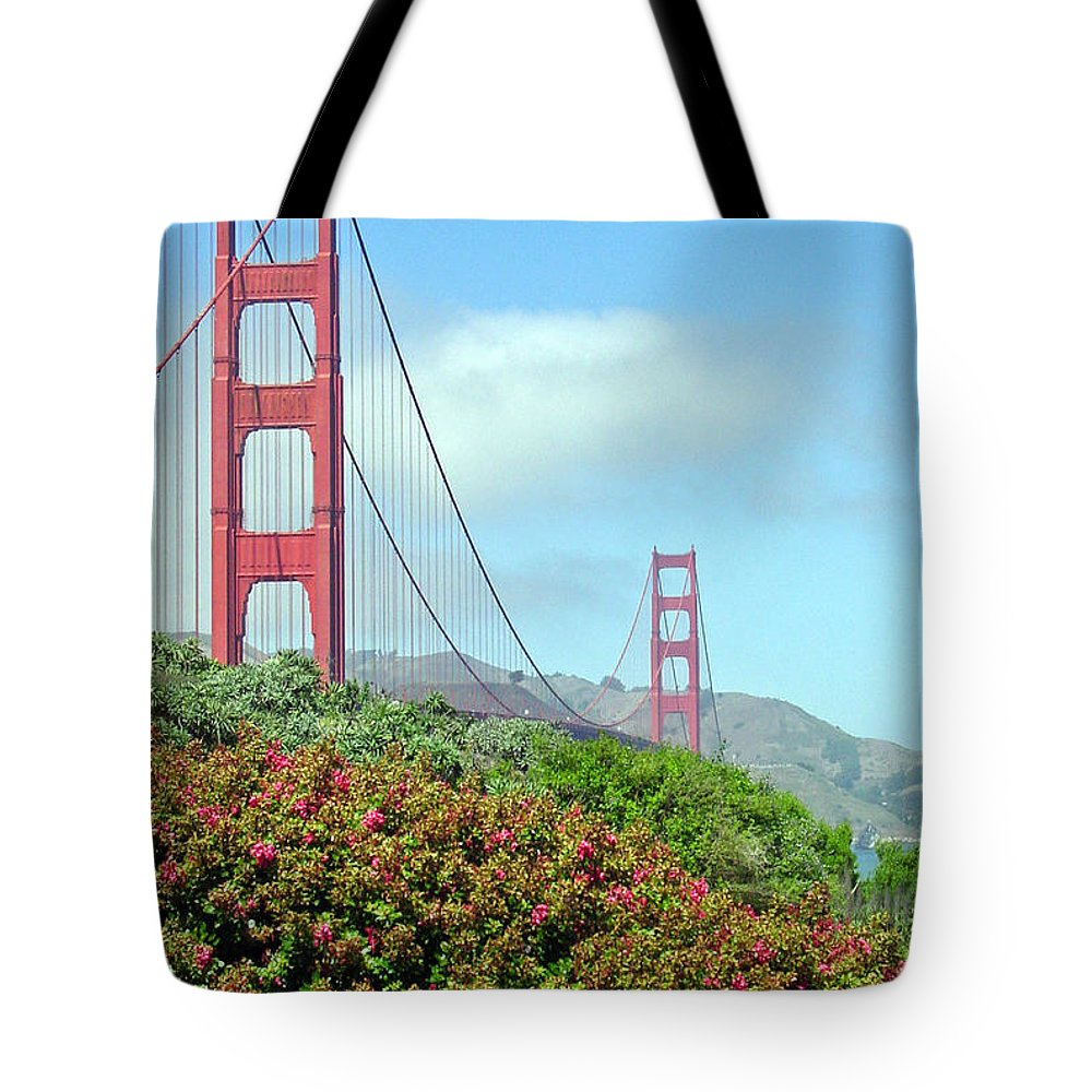 Golden Gate Bridge Tote Bag featuring the photograph Golden Gate by Suzanne Gaff