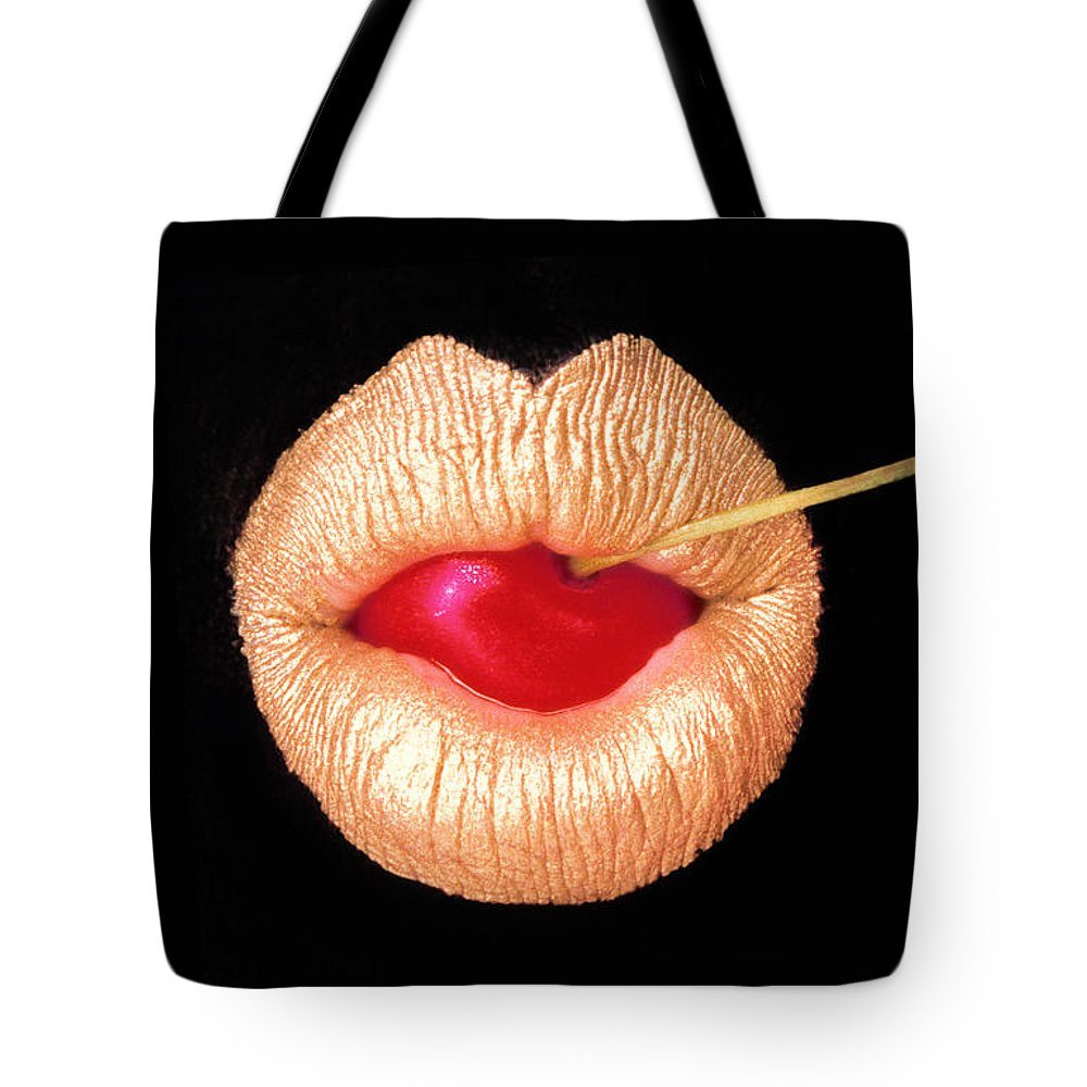 Film Tote Bag featuring the photograph Golden Lips by Daniel Furon