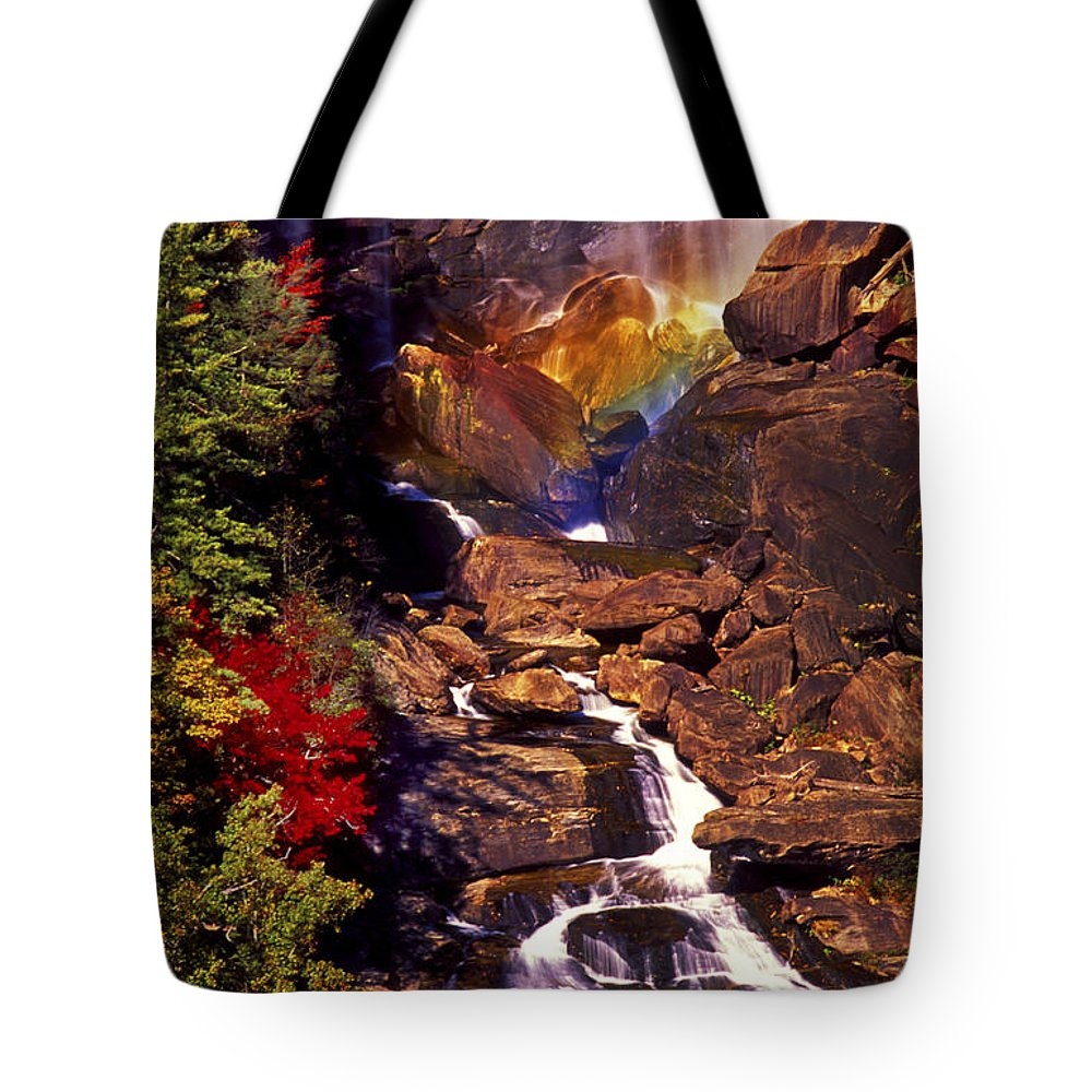 Water Tote Bag featuring the photograph Golden Rainbow by Paul W Faust - Impressions of Light