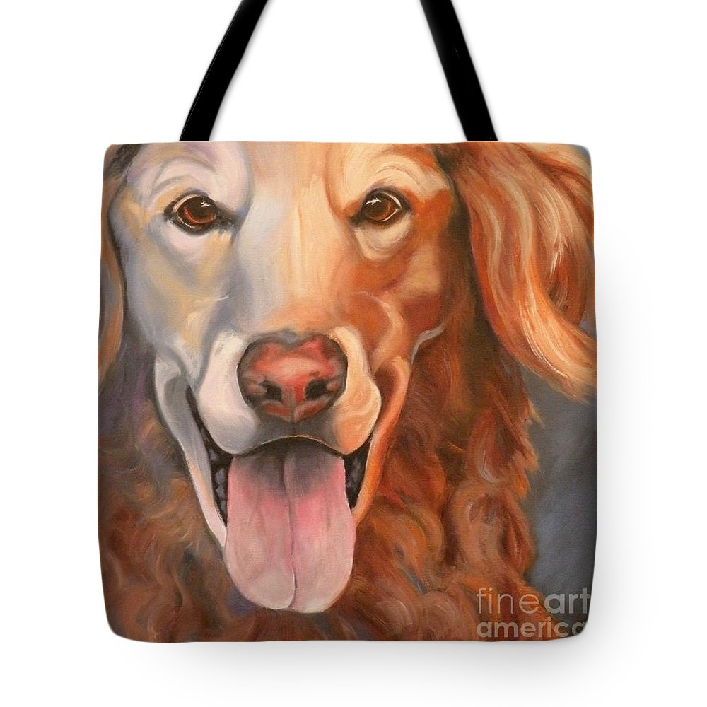 Dogs Tote Bag featuring the painting Golden Retriever Till There Was You by Susan A Becker