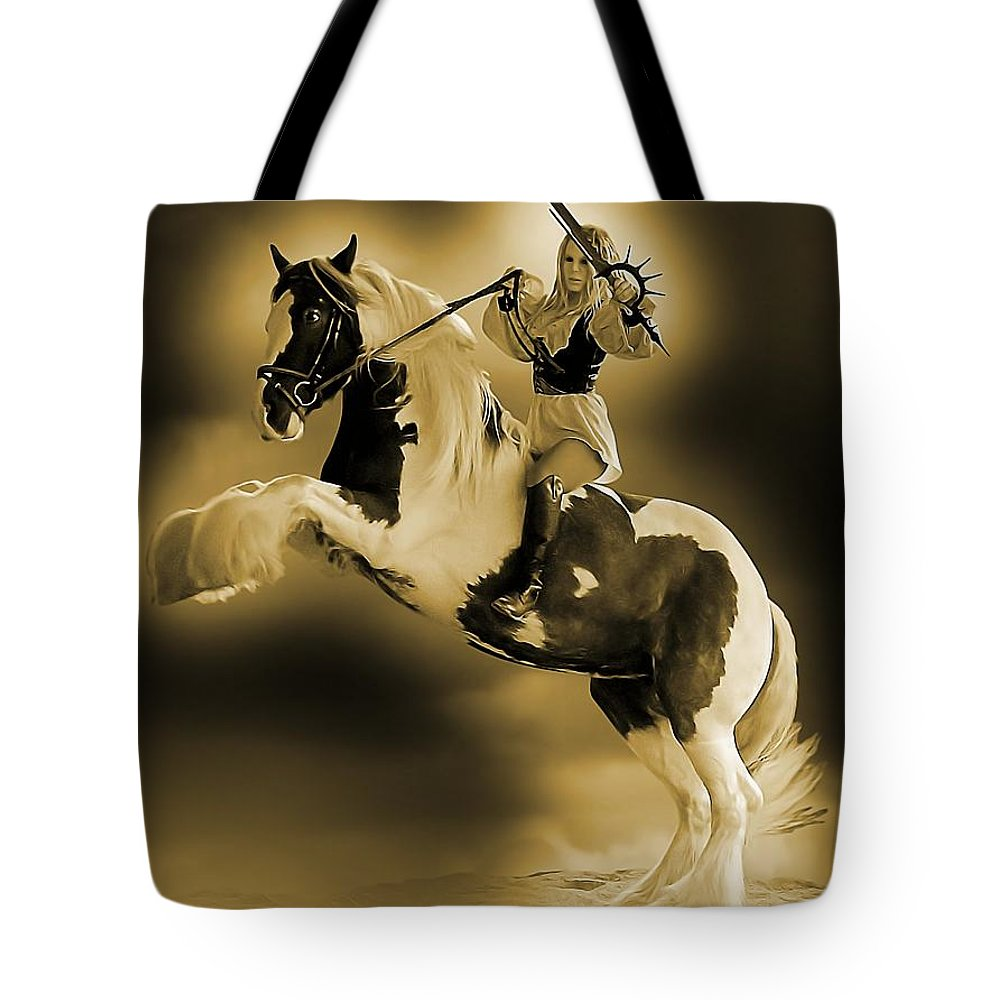 Sexy Tote Bag featuring the photograph Golden Rider by Jon Volden