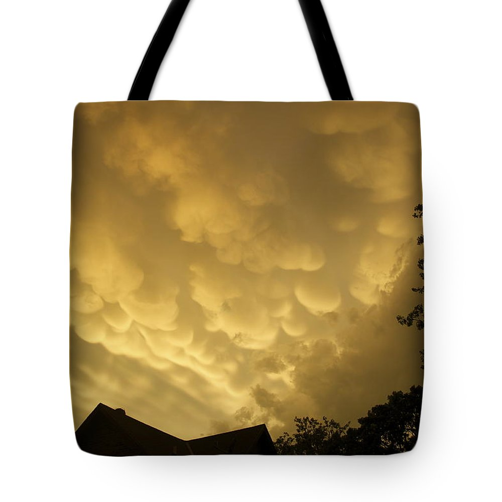 Golden Tote Bag featuring the photograph Golden Sky's by Terry Anderson