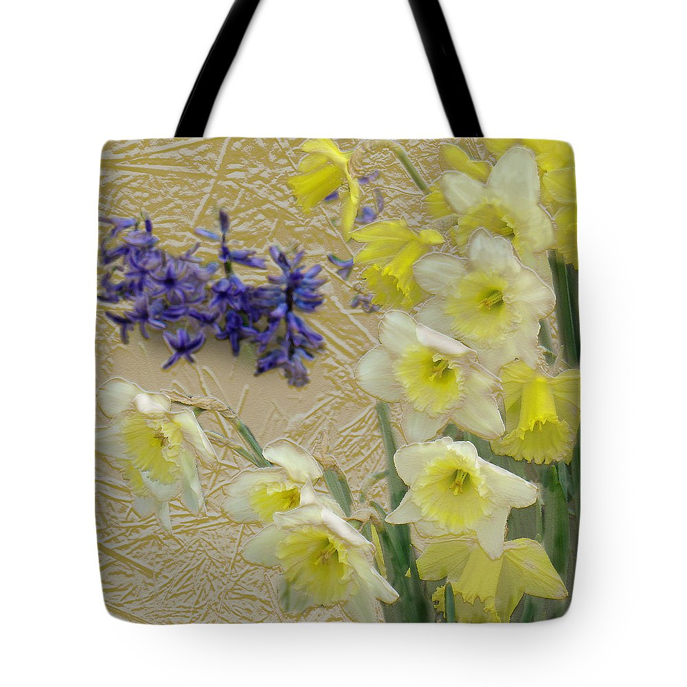 Landscape Tote Bag featuring the digital art Golden Spring by Steve Karol