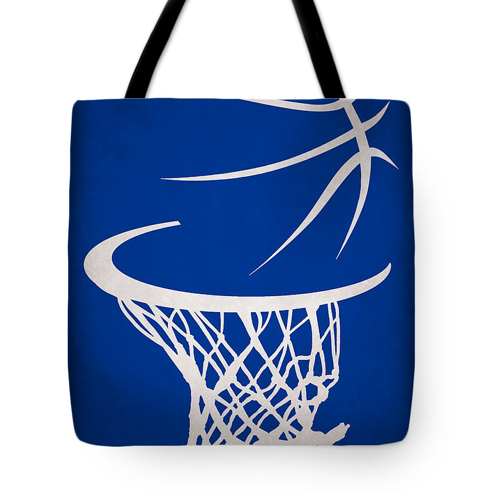 Warriors Tote Bag featuring the photograph Golden State Warriors Hoop by Joe Hamilton