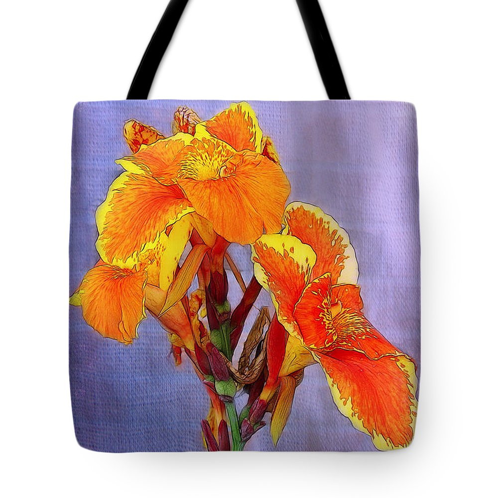 Orange Tote Bag featuring the photograph Golden Torch Ginger by Judi Bagwell